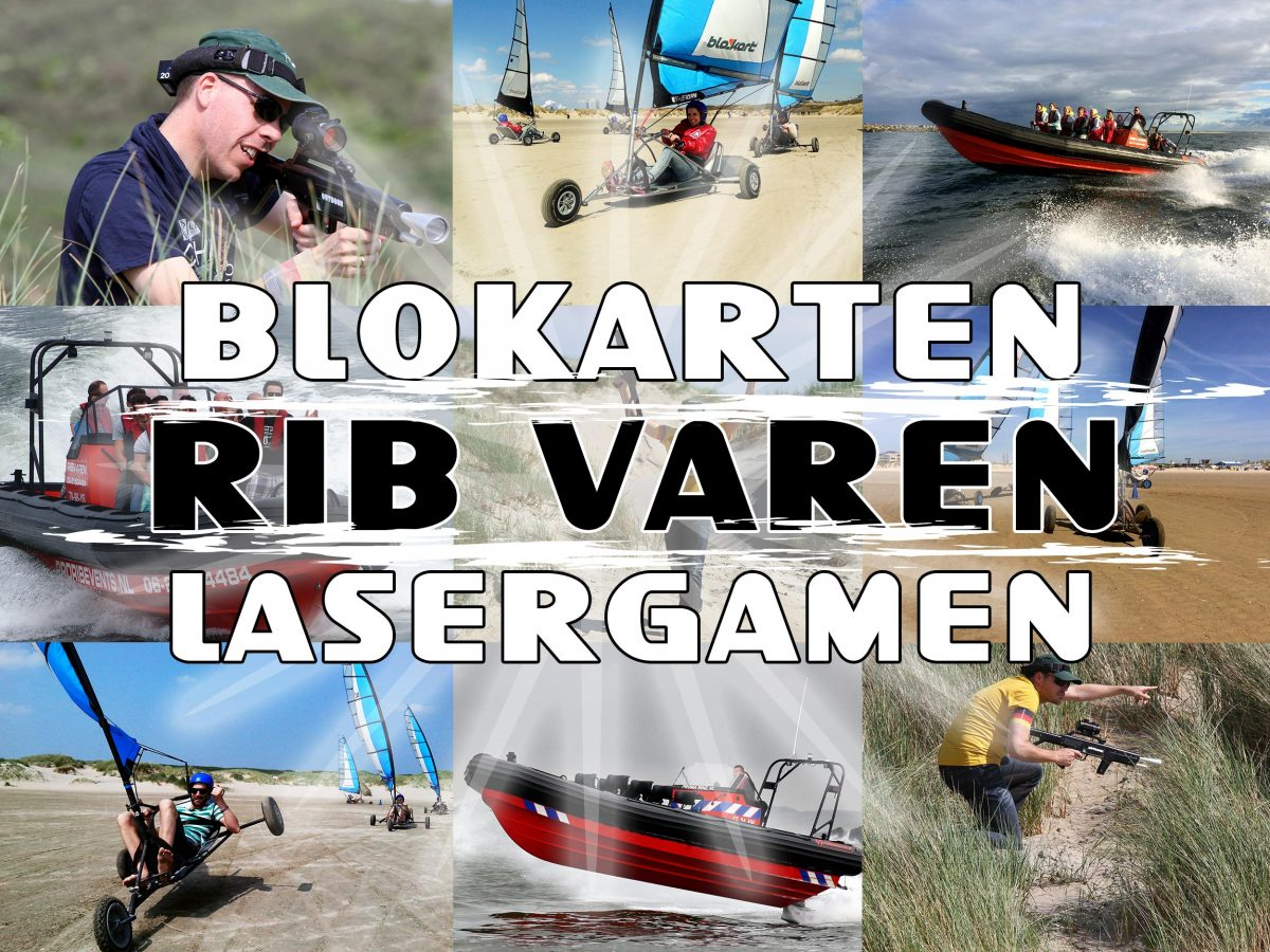 Blokarten RIB varen Outdoor Lasergamen