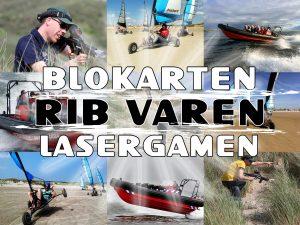 Blokarten RIB varen Lasergamen