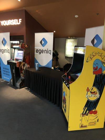 Arcade verhuur op een beurs Eventmaker