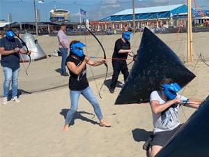 Archery combat op het strand Eventmaker