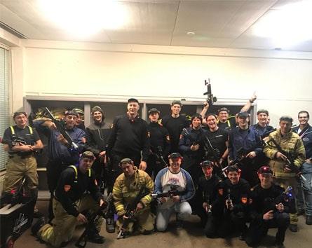 Lasergamen op locatie brandweer Eventmaker