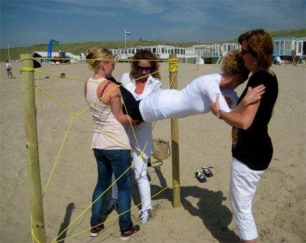 Samenwerken met teambuildingsactiviteit